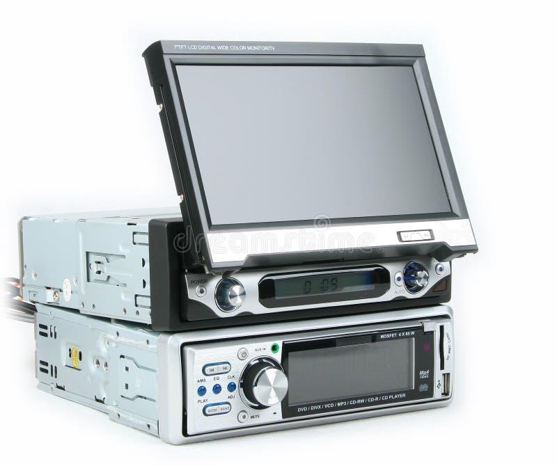Monitor e reprodutor de DVD do carro imagens de stock
