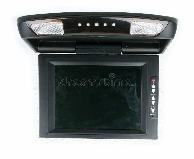Monitor e reprodutor de DVD do carro fotografia de stock royalty free
