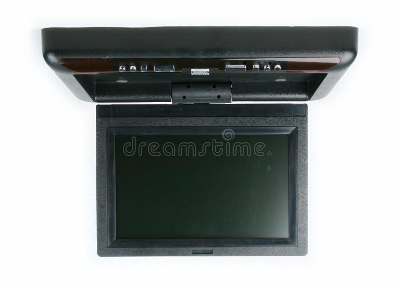 Monitor e reprodutor de DVD do carro foto de stock