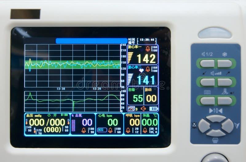 Monitor ECG royalty-vrije stock foto