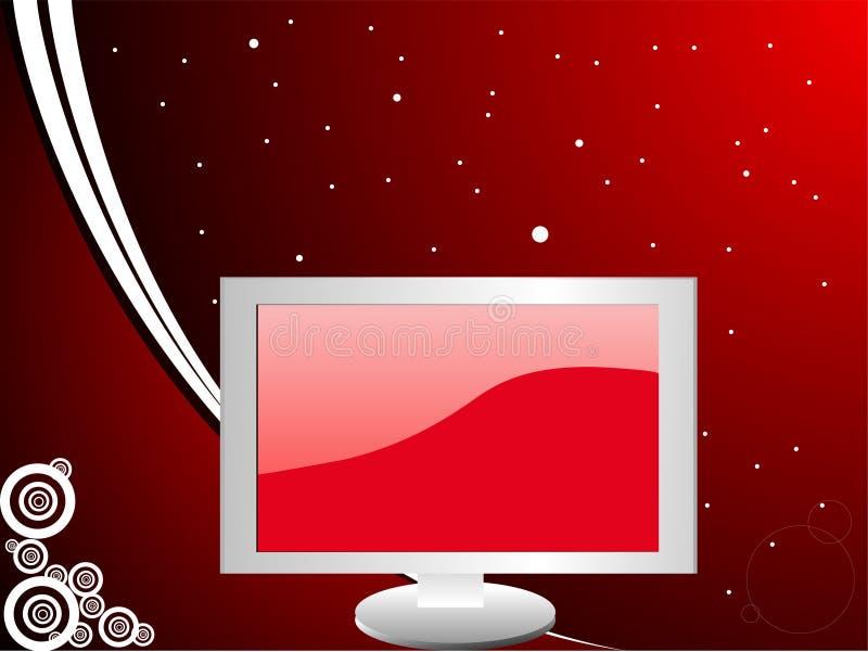 Monitor en curvas ilustración del vector