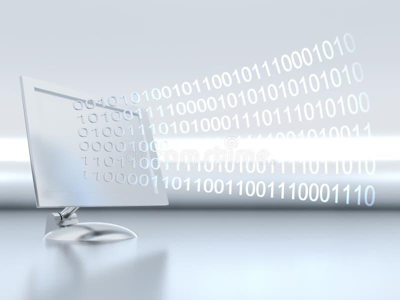 Monitor en informatie stock illustratie