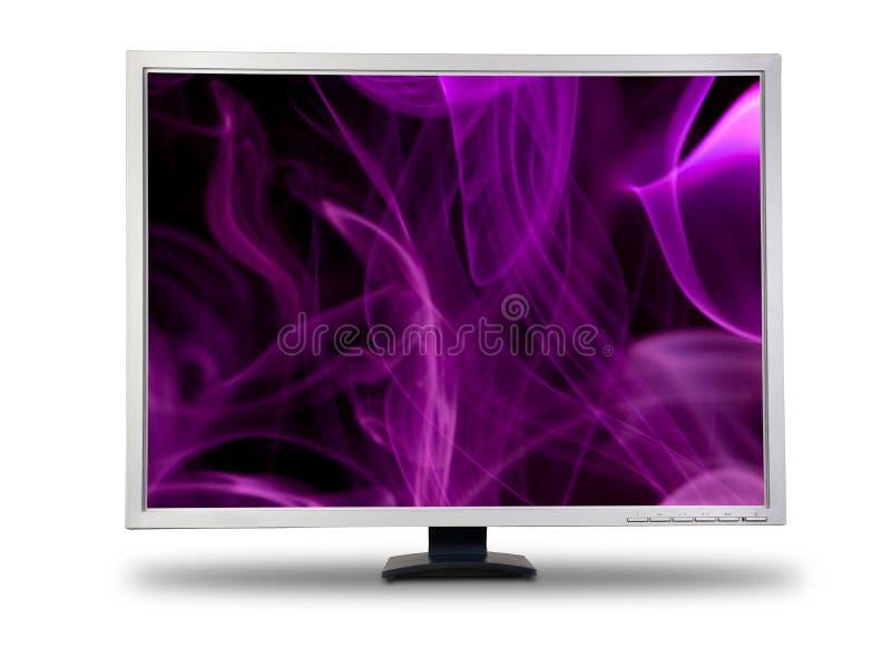 Monitor grande do LCD do computador. fotos de stock royalty free