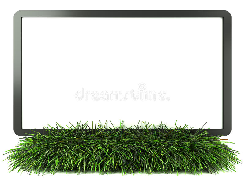 Download Monitor on grass with stock illustration. Illustration of icon - 24881412