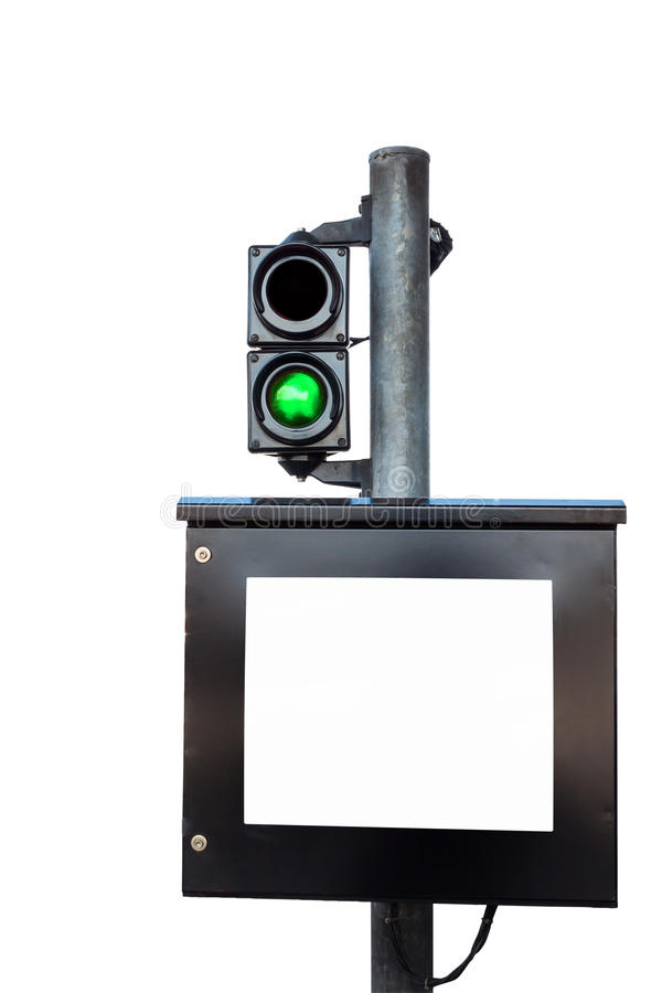 Toll-fee monitor royalty free stock photo