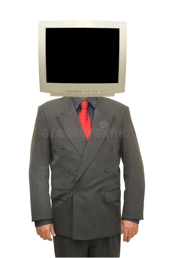 Download Monitor head stock photo. Image of motivated, suit, young - 9031532