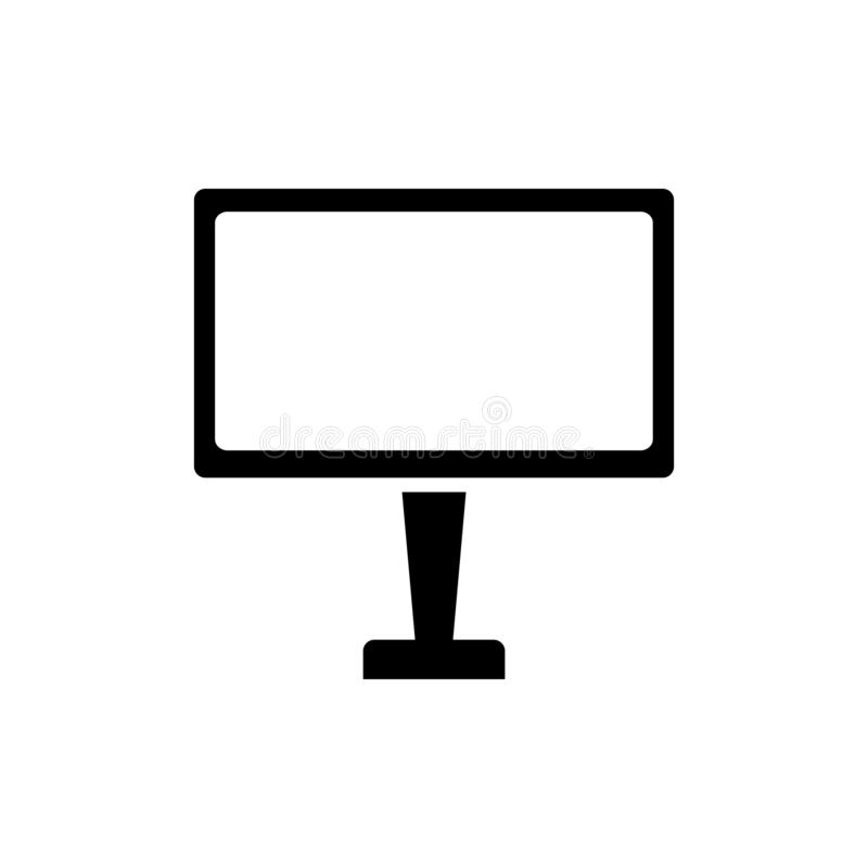 Monitor icon. Computer display symbol. Television, screen, technology, desktop, computer, monitor, pc, display, icon, vector, illustration, design, isolated vector illustration