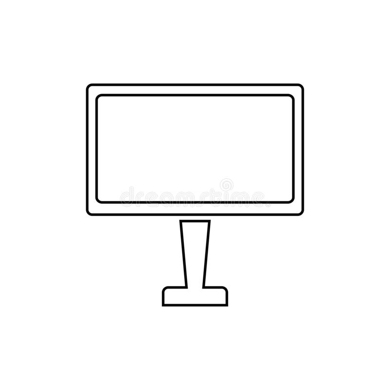 Monitor icon. Computer display symbol. Television, screen, technology, desktop, computer, monitor, pc, display, icon, vector, illustration, design, isolated stock illustration