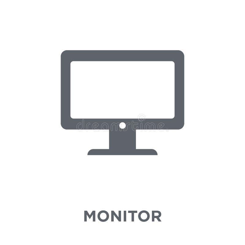 Monitor ikona od urządzeń elektronicznych inkasowych royalty ilustracja