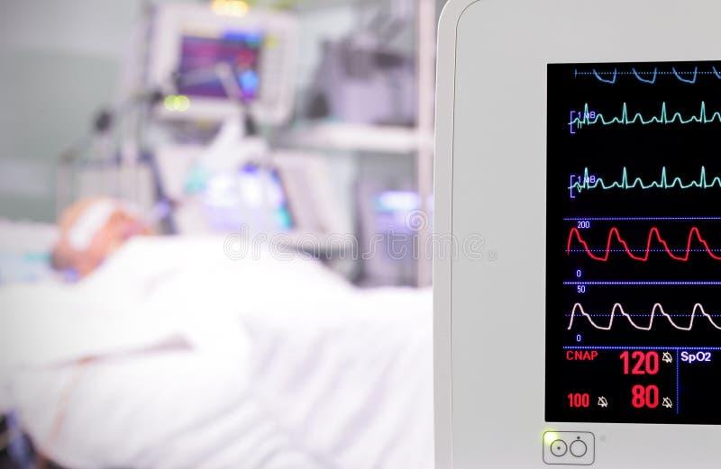 Monitor im Raum. Intensivstation. lizenzfreies stockbild