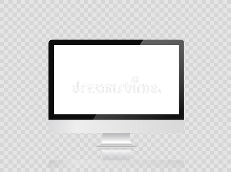 Monitor imac style for computer with blank screen, isolated on white background. Monitor imac style for computer with blank screen, isolated on white background vector illustration