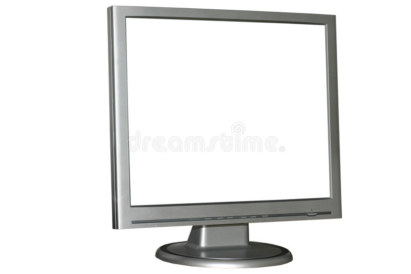 Monitor isolado do LCD imagens de stock royalty free
