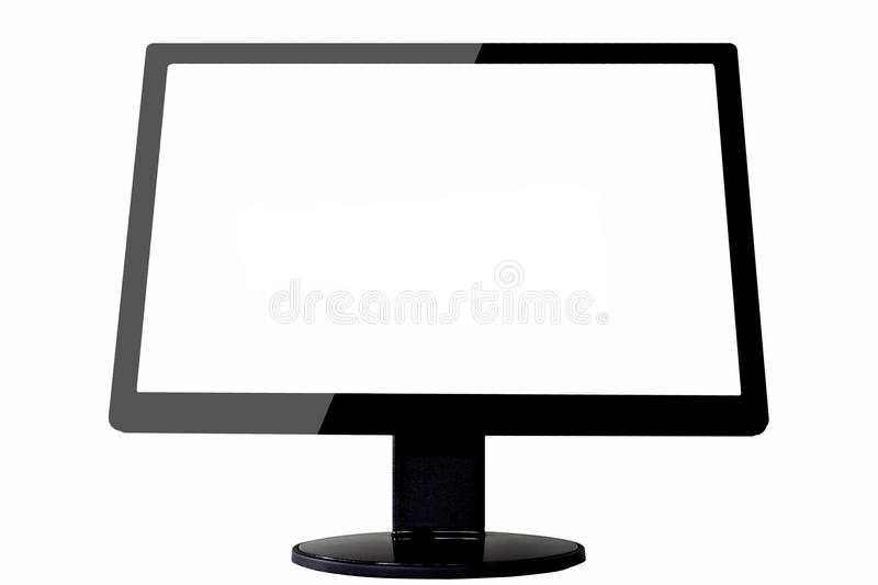 Monitor On Isolate Background Stock Images