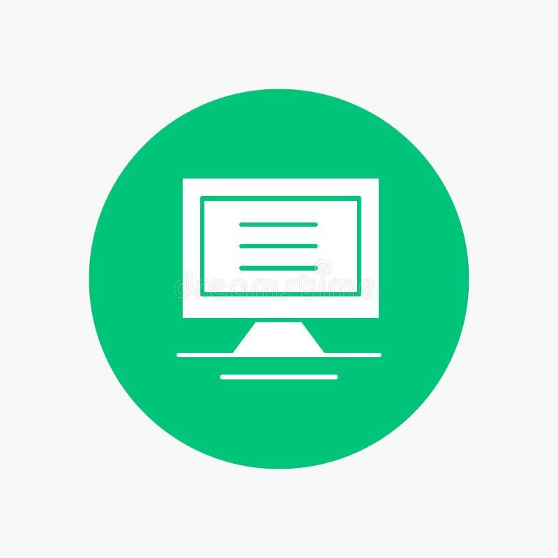 Monitor, komputer, narzędzia royalty ilustracja