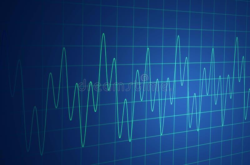 Monitor médico ilustração royalty free