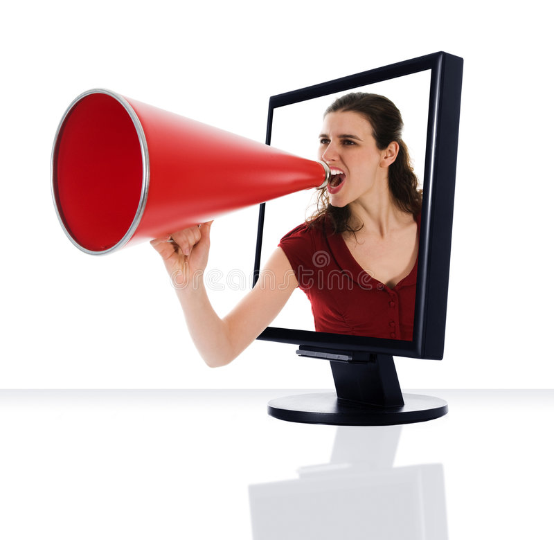 Download Monitor Megaphone stock image. Image of speaker, angry - 5049393