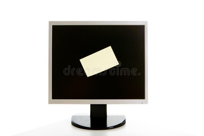 Monitor met bulletin royalty-vrije stock foto's