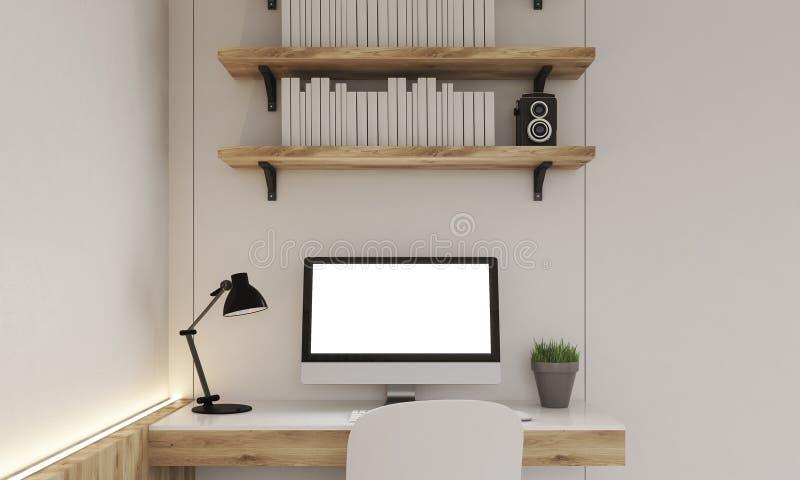 Monitor na biurku obraz stock