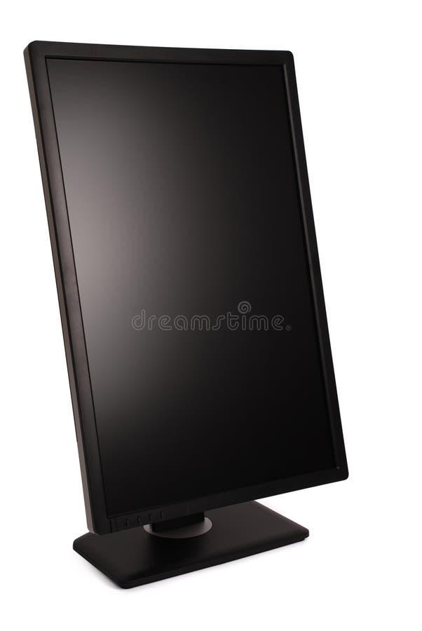 Monitor negro de la PC (trayectoria de recortes) fotos de archivo libres de regalías