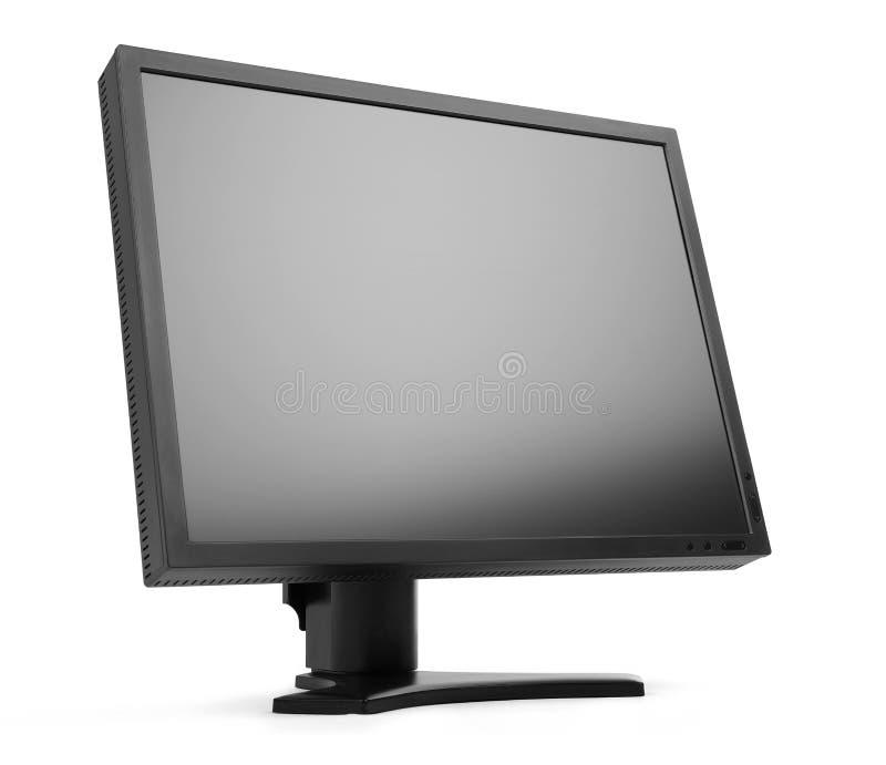 Monitor negro del LCD de la pantalla plana fotos de archivo