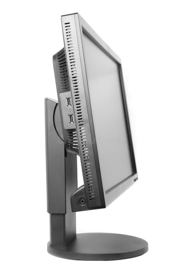 Monitor negro del ordenador fotografía de archivo
