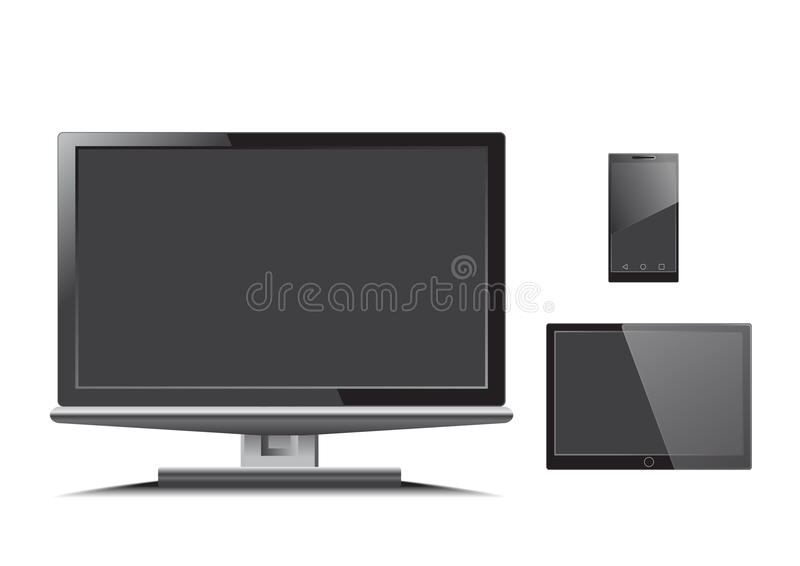 Monitor pastylki telefonu wektor obraz royalty free