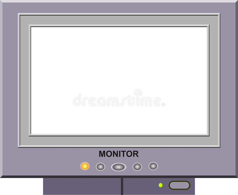 Monitor Picture Frame stock illustration