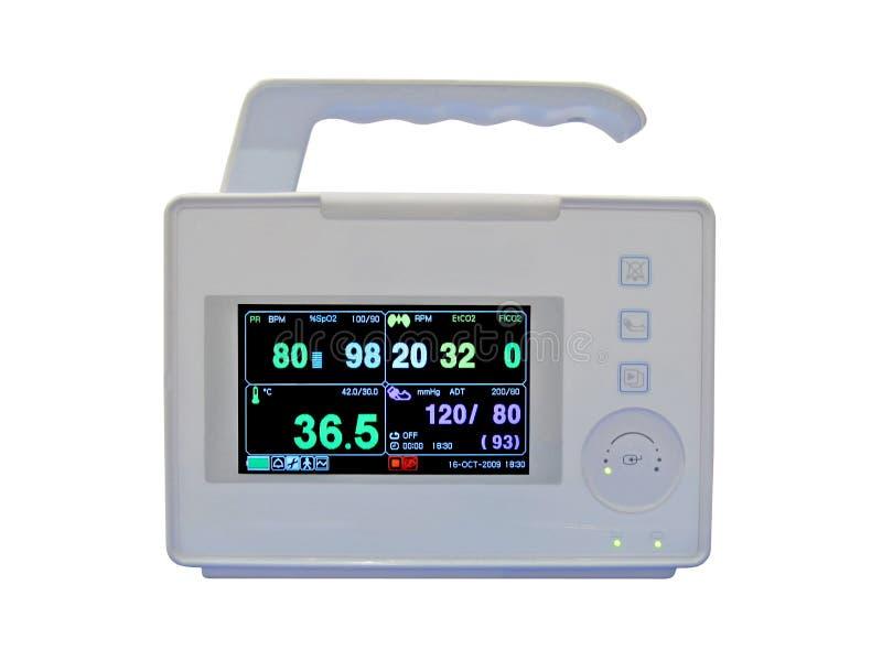 Monitor portátil cardiovascular colorido novo fotografia de stock
