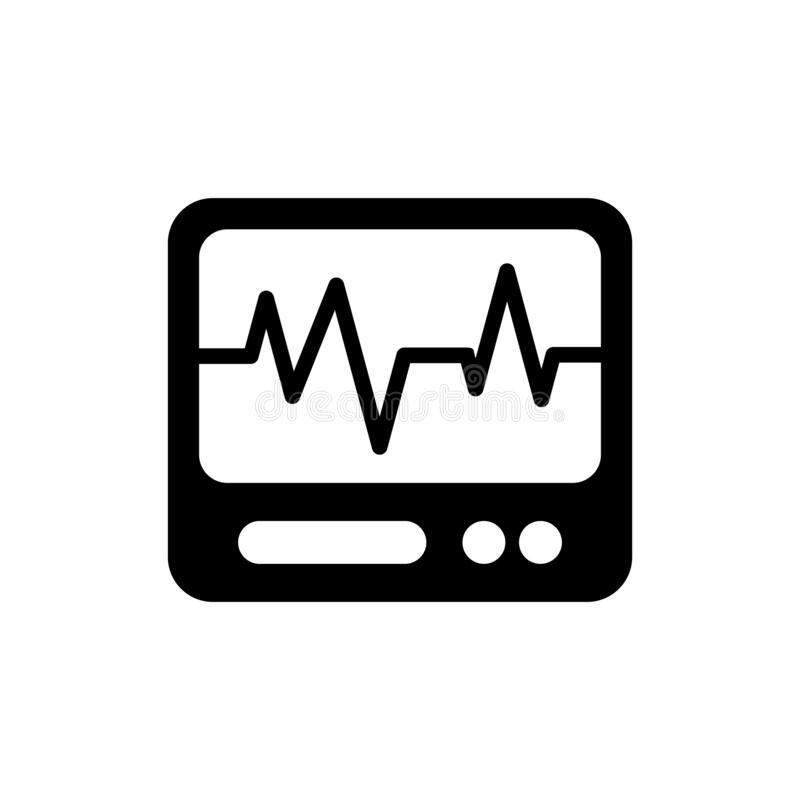A health monitor that displays a heart rate graph royalty free illustration