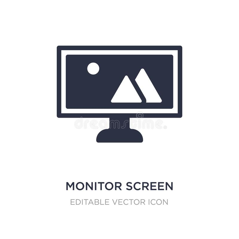 monitor screen icon on white background. Simple element illustration from Computer concept royalty free illustration
