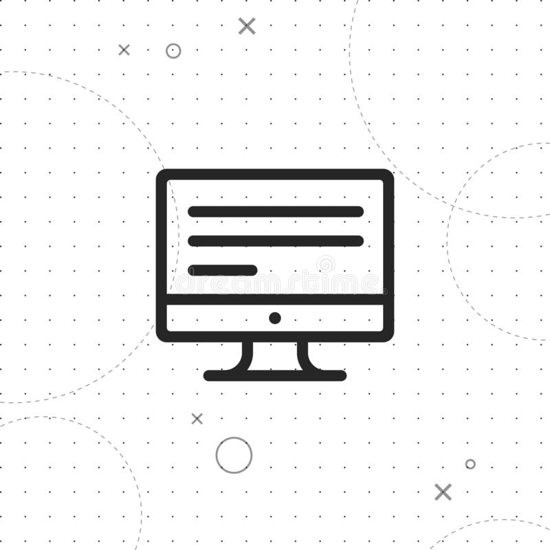 Monitor, screen vector icon. Monitor, screen vector best flat icon on texture background , EPS 10 royalty free illustration