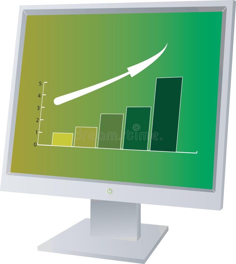 monitor sprzedaży royalty ilustracja