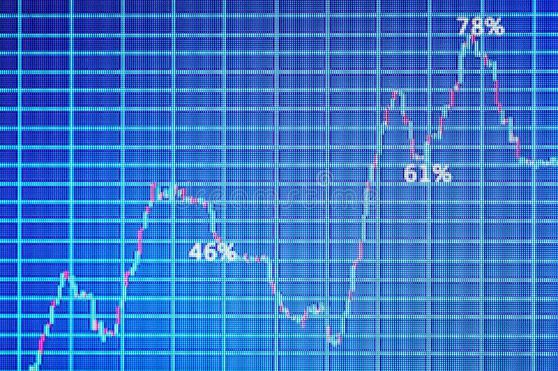 Monitor with stock data, closeup. Financial trading. Concept royalty free stock image