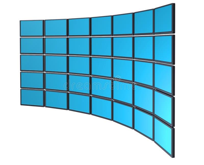 Monitor wall royalty free illustration