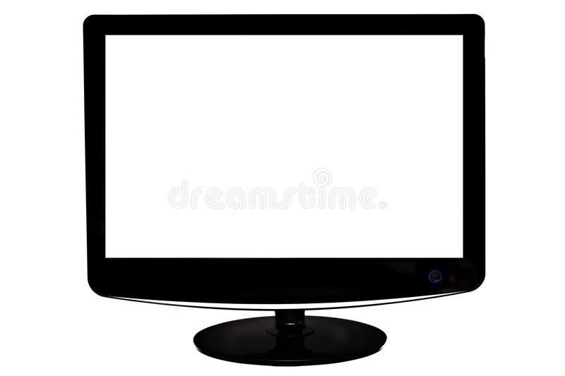 Monitor with white screen. Shot of monitor with white screen stock image