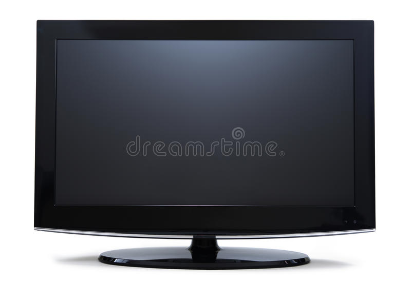 Monitor Widescreen do LCD foto de stock royalty free
