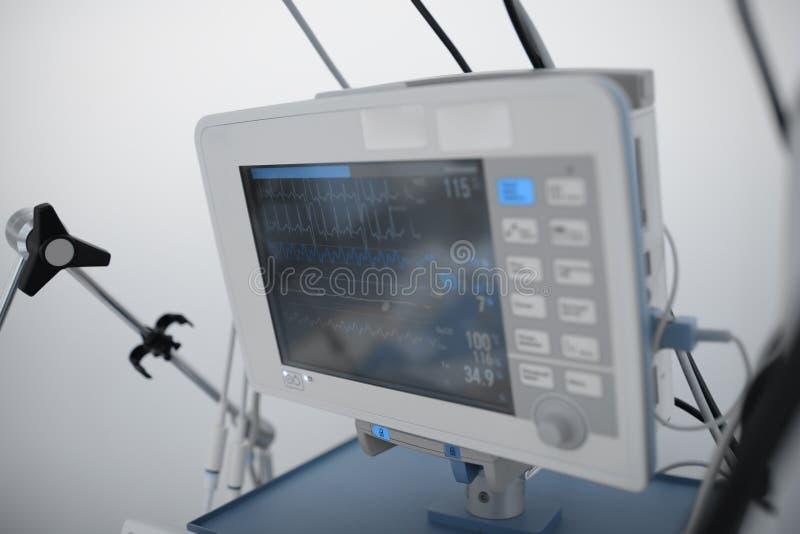 Monitoração da manutenção das funções vitais na unidade crítica do cuidado imagem de stock