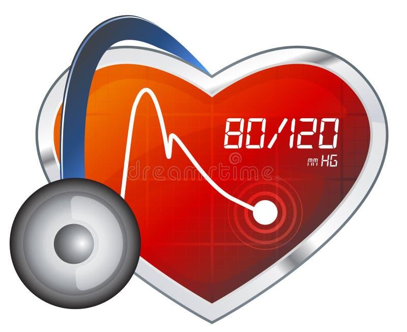 Monitoração da pressão sanguínea - ilustração ilustração do vetor