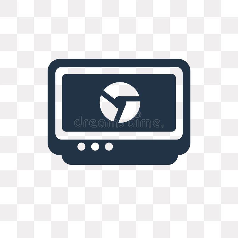 Monitore o ícone do vetor isolado no fundo transparente, monitore-o ilustração do vetor