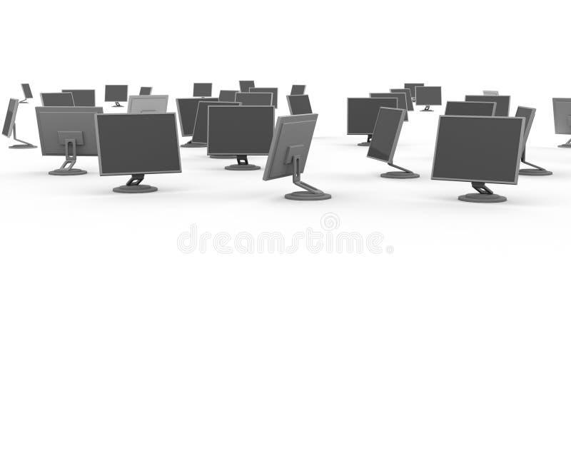 Monitores ilustración del vector