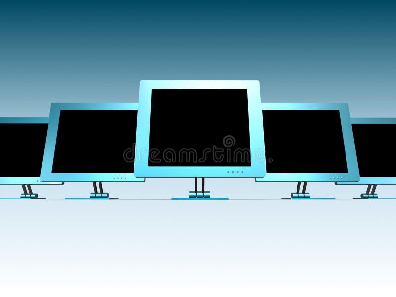 MONITORES DEL LCD stock de ilustración