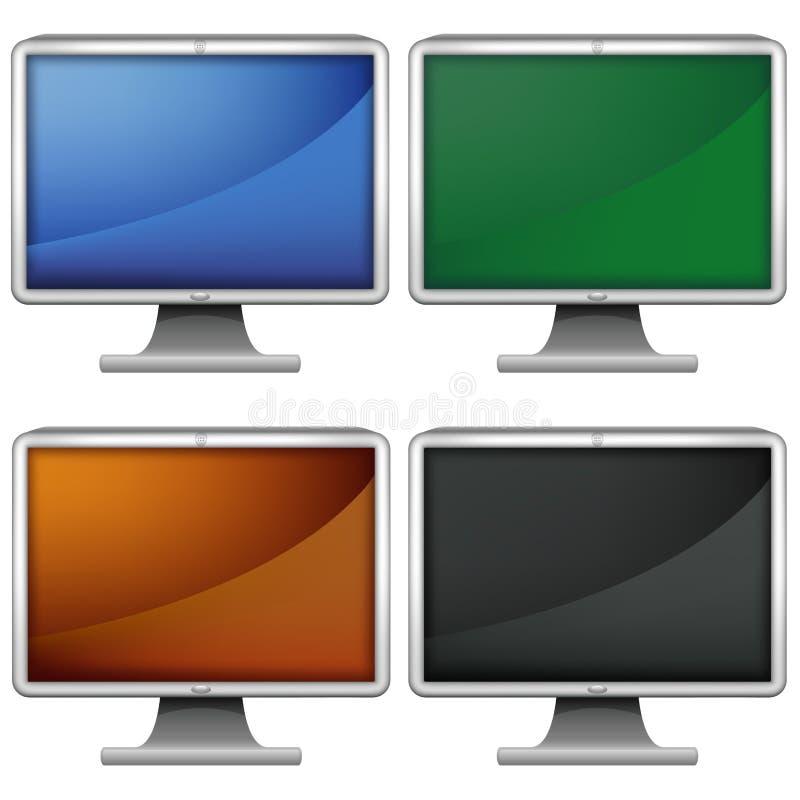 Monitores do LCD ilustração royalty free
