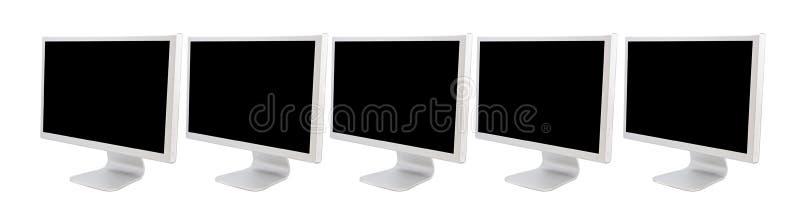 Monitores dos computadores ilustração do vetor
