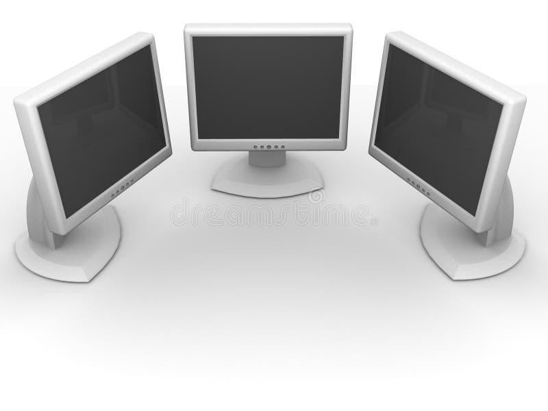 Monitores. red ilustración del vector