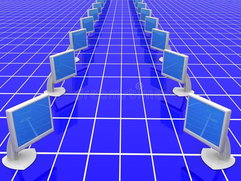 Monitores. rede ilustração stock