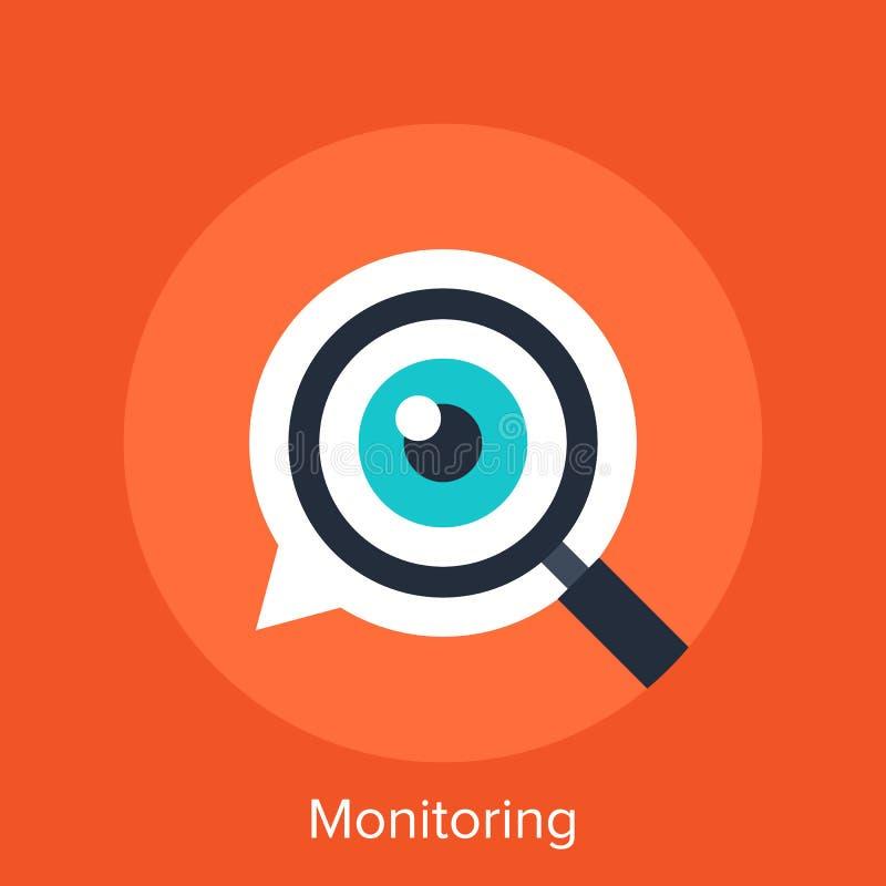 monitoring ilustración del vector