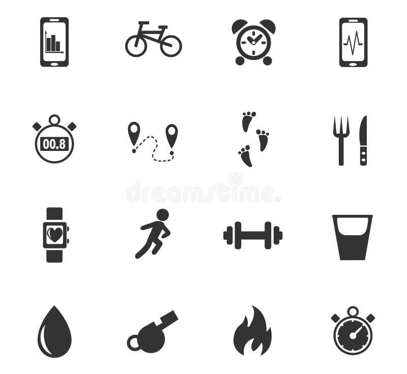 Monitoring apps icon set stock image