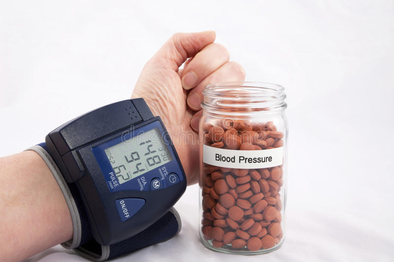 Monitoring Blood Pressure Royalty Free Stock Images