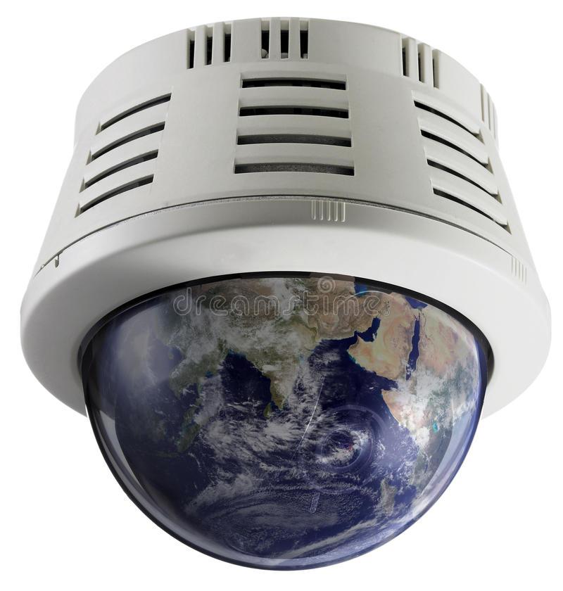 Monitoring climate change. Camera for monitoring climate change on planet earth royalty free stock image