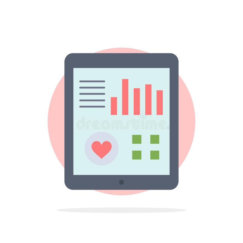 monitoring, health, heart, pulse, Patient Report Flat Color Icon Vector vector illustration